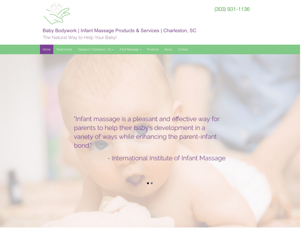 Baby Bodywork website