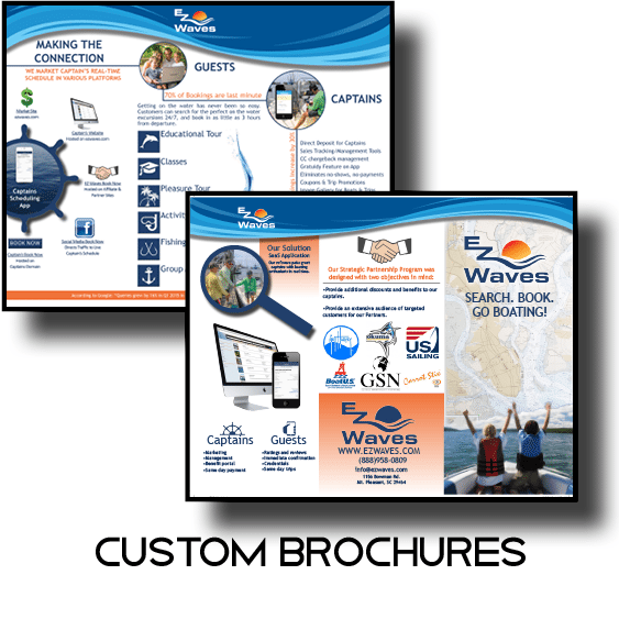 Custom business and informative brochures