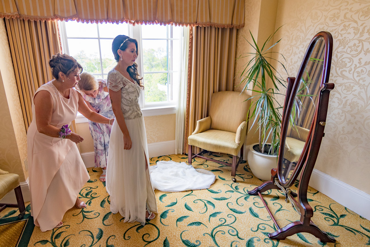 Sanctuary at Kiawah island wedding bridal suite