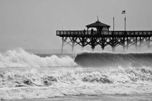 Old Oak Island Pier (before hurricane)